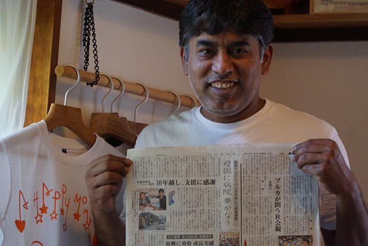 5月5日付けの西日本新聞さんに記事にしていただきました!岡村さんと一緒に載ってます。