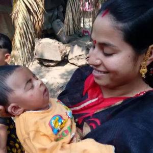 バングラデシュの母子